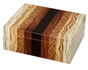 Visol Ridge Mixed Wood 50 Cigar Humidor - Crown Humidors