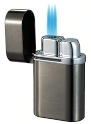Visol Triflow Gunmetal Triple Torch Cigar Lighter - Crown Humidors