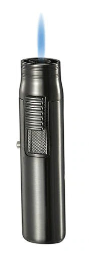 Visol Sherman Gunmetal Single Flame Torch Lighter - Crown Humidors