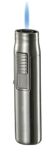 Visol Sherman Nickel Single Flame Torch Lighter - Crown Humidors