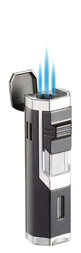 Visol Andes Triple Torch Cigar Lighter - Silver - Crown Humidors