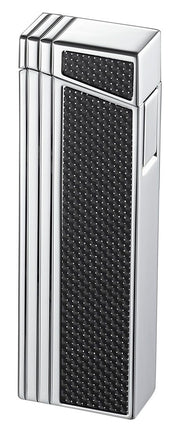 Caseti Chrome Double Designed Compact Torch Flame Lighter - Crown Humidors