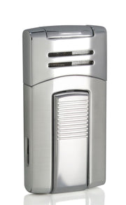 Caseti Chrome Single Torch Flame Cigar Lighter - Crown Humidors