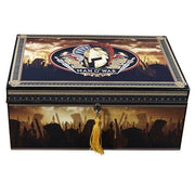 Quality Importers Man O War Branded Humidor - 100 Cigar ct - Crown Humidors