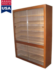E8060 Genuine USA made Spanish Cedar Commercial - Retail Electronic Cabinet Humidor - 5000 Cigar ct - Crown Humidors