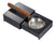 Visol Loki Sliding Ashtray with Removable Ashtray and Compartments - Carbon Fiber - Crown Humidors