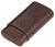 Visol Cuero Genuine Brown Leather 3-Finger Cigar Case - Crown Humidors