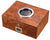 Visol PortHole Burlwood Finish Cigar Humidor - Holds 75 Cigars - Crown Humidors