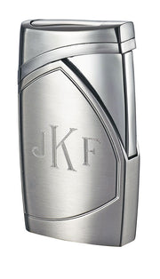 Visol Shark Brushed Chrome Single Torch Flame Cigar Lighter - Crown Humidors