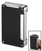 Visol Zidane Black Matte Cigar Lighter With Built-in Cigar Punch - Crown Humidors