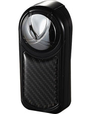 Visol Dobrev Iii Triple Jet Flame Black Carbon Fiber Cigar Lighter - Crown Humidors