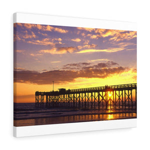 Mexico Beach Pier Stretched canvas - Sunset