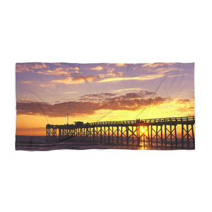 Mexico Beach Pier Beach Towel - Sunset