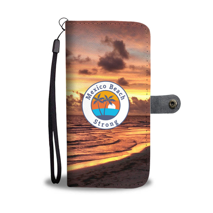 Beautiful Mexico Beach Strong Sunset Wallet Phone Case