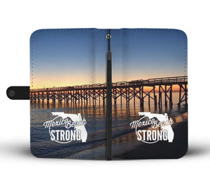Beautiful Mexico Beach Strong Pier Wallet Phone Case