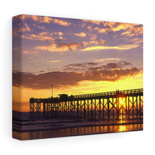 Load image into Gallery viewer, Mexico Beach Pier Stretched canvas - Sunset