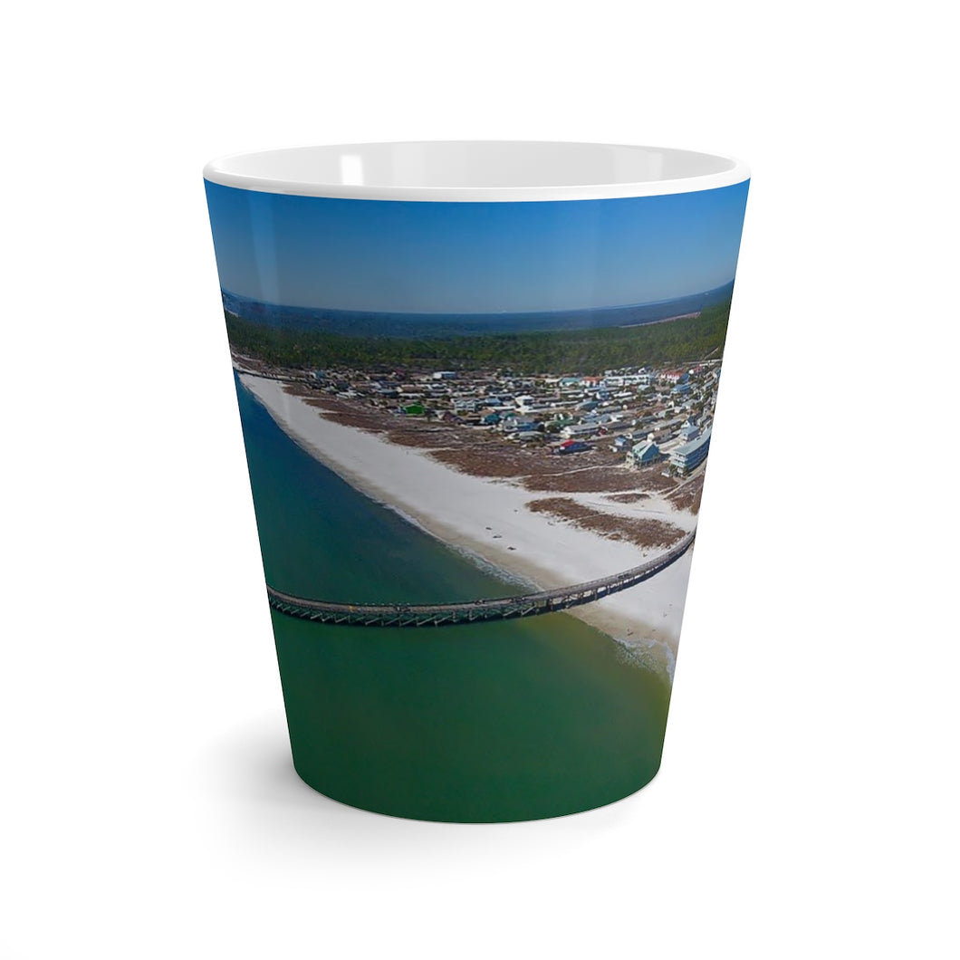 Mexico Beach Pier Latte Mug