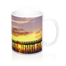 Load image into Gallery viewer, Mexico Beach Pier Mug 11oz - Sunset