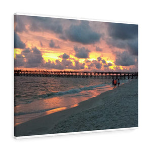 Mexico Beach Pier Canvas - Sunset