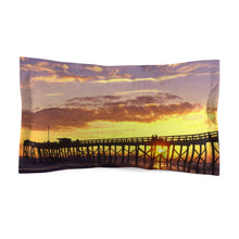 Load image into Gallery viewer, Mexico Beach Pier Microfiber Pillow - Sunset