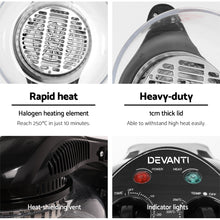Load image into Gallery viewer, Devanti 12L Air Fryer - Black