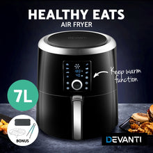 Load image into Gallery viewer, Devanti Air Fryer 7L LCD Digital Oil Free Cooker Deep Frying Accessories Rack