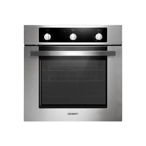 Devanti 60cm Electric Built in Wall Oven Convection Grill Stove Stainless Steel