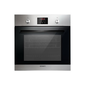 Devanti 65L Electric Built in Wall Oven Stainless Steel Fan Forced Convection