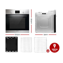 Load image into Gallery viewer, Devanti 65L Electric Built in Wall Oven Stainless Steel Fan Forced Convection
