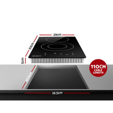 Load image into Gallery viewer, Devanti 2900W Electric Ceramic Cooktop 30cm Kitchen Cooker Cook Top Hob Touch Control