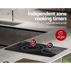 Devanti 2900W Electric Ceramic Cooktop 30cm Kitchen Cooker Cook Top Hob Touch Control