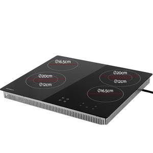 Devanti 6300W Four Burner Ceramic Cooktop - Black