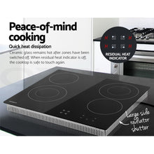 Load image into Gallery viewer, Devanti 6300W Four Burner Ceramic Cooktop - Black