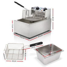 Load image into Gallery viewer, 5 Star Chef Commercial Electric Single Deep Fryer - Silver