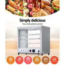 Load image into Gallery viewer, Devanti Commercial Food Warmer Pie Hot Display Showcase Cabinet Stainless Steel