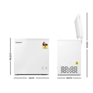 Devanti 145L Chest Freezer - White