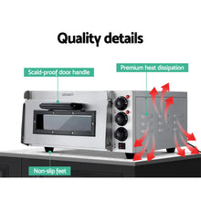 Load image into Gallery viewer, Devanti 2000W Electric Commercial Pizza Oven Maker Single Deck Stainless Steel