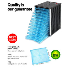 Load image into Gallery viewer, Devanti Commercial Food Dehydrator with 12 Trays