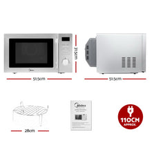 Load image into Gallery viewer, Midea 34L 2100W Electric Convetion Microwave Oven Kitchen Bench Silver