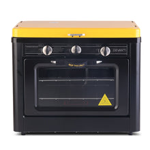 Load image into Gallery viewer, Devanti 3 Burner Portable Oven - Black & Yellow