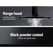 Load image into Gallery viewer, DEVANTi 900mm 90cm Rangehood Stainless Steel Range Hood Home Kitchen Canopy Black