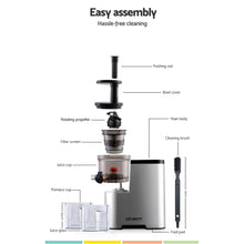 Load image into Gallery viewer, Devanti Cold Press Slow Juicer Silver