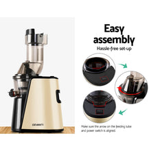 Load image into Gallery viewer, Devanti Cold Press Slow Juicer Gold