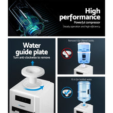 Load image into Gallery viewer, Devanti 22L Bench Top Water Cooler Dispenser Purifier Hot Cold Dual Tap with 2 Replacement Filters