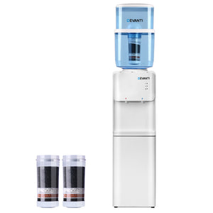 Devanti 22L Water Cooler Dispenser Hot Cold Taps Purifier Filter Replacement