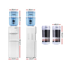 Load image into Gallery viewer, Devanti 22L Water Cooler Dispenser Hot Cold Taps Purifier Filter Replacement