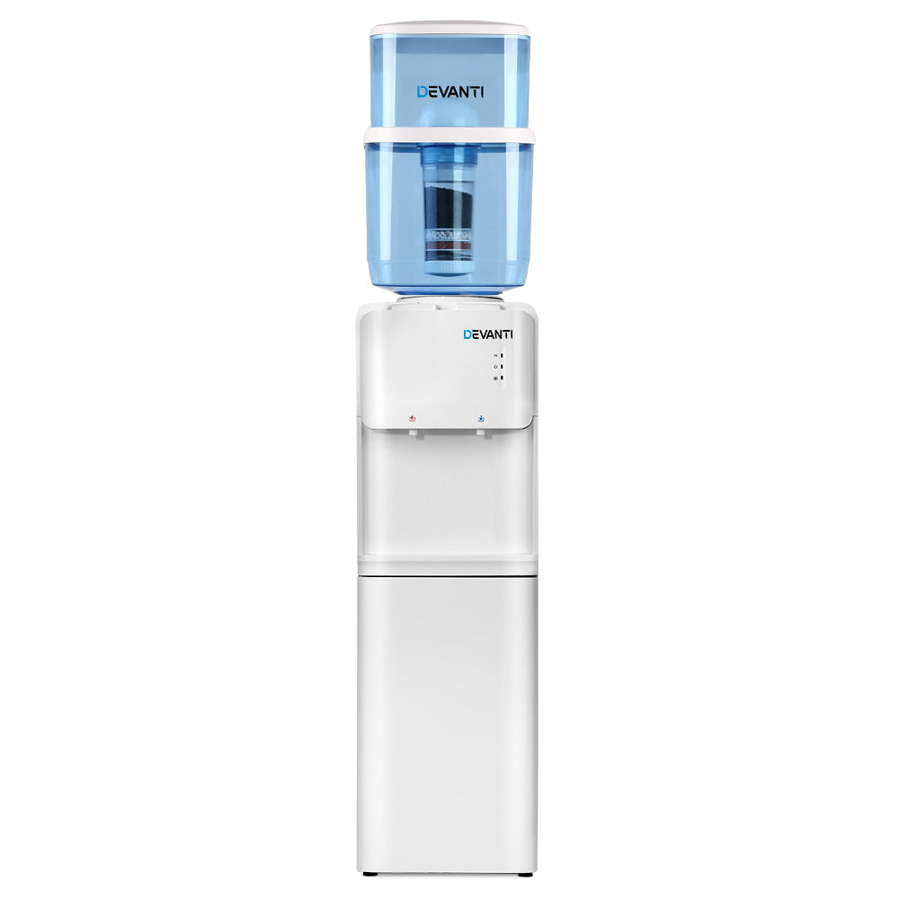 Devanti 22L Water Cooler Dispenser Top Loading Hot Cold Taps Filter Purifier Bottle
