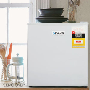 Devanti 48L Portable Mini Bar Fridge - White