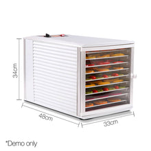 Load image into Gallery viewer, Devanti Stainless Steel Commercial Food Dehydrator with 10 Trays