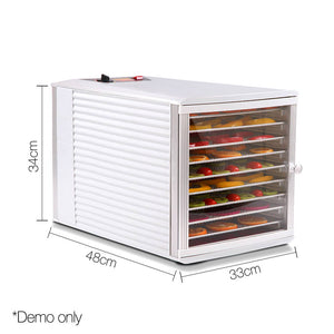 Devanti Stainless Steel Commercial Food Dehydrator with 10 Trays